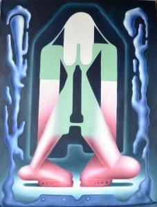 Mynd 3 - Hallgrímur Helgason At the gate of womanhood (virgin entering) Olía á striga 102x77